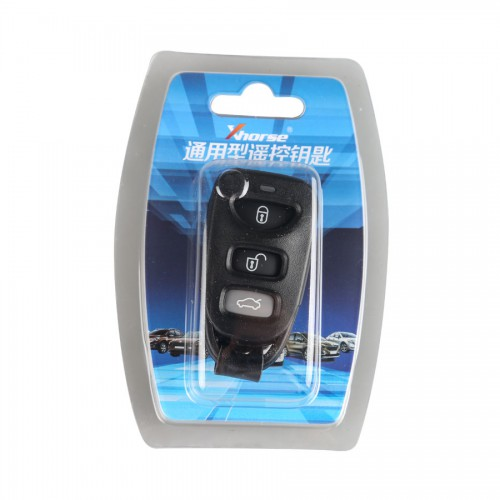 XHORSE VVDI2 Hyundai Type Universal Remote Key 3 Buttons (Individually Packaged)