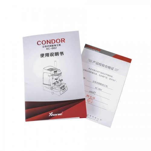 Condor XC-002 Manually Key Cutting Machine Plus V4.8.0 VVDI MB BGA Tool Get One Token Free Everyday Free Shipping