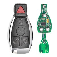 NEC Chip Panic Smart Remote Key Fob For Mercedes Benz C E Class (2 Batteries) 315Mhz