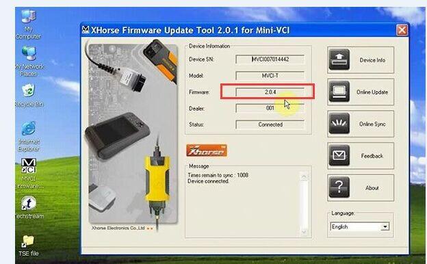 V10 30 029 MINI VCI FOR TOYOTA TIS Techstream Single Cable Firmware 2 0 4