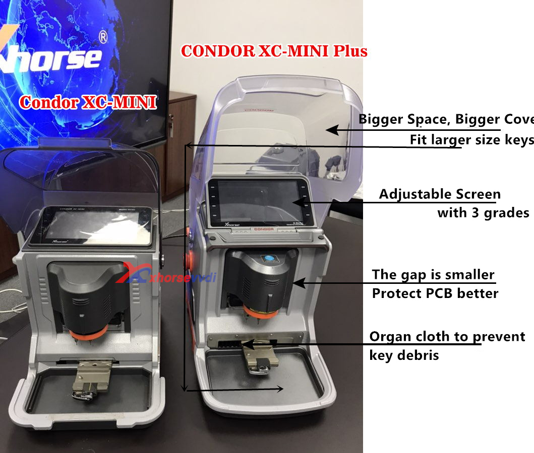 V2 2 3 Xhorse Condor XC-Mini Plus Key Cutting Machine (Condor XC-MINI II)  Master Series Update Online DHL Free