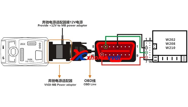 Vvdi Mb Bga Tool Power Adapter Work With W164 W204