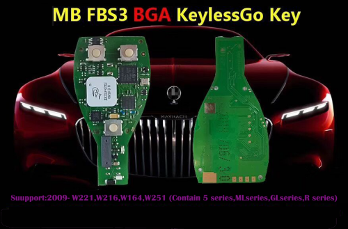 MB FBS3 BGA KeylessGo Key 315MHZ/433MHZ for Benz W164 W216 W221 2009- W251 work with VVDI MB Tool