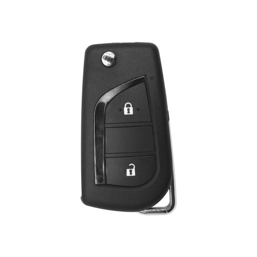 Xhorse Wireless Universal Folding Remote Key for Toyota Flip 2 Buttons XNTO01EN 5pcs/lot