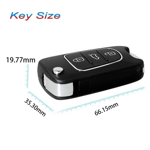 Xhorse Wireless Flip Remote Key 3 Buttons XNHY02EN KIA Hyundai Type 5pcs/lot
