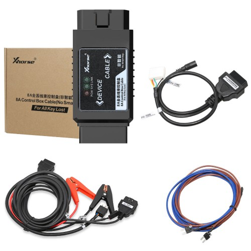 Xhorse Toyota 8A Non-smart Key Adapter for All Key Lost No Disassembly Work with VVDI2/VVDI Max+MINI OBD Tool