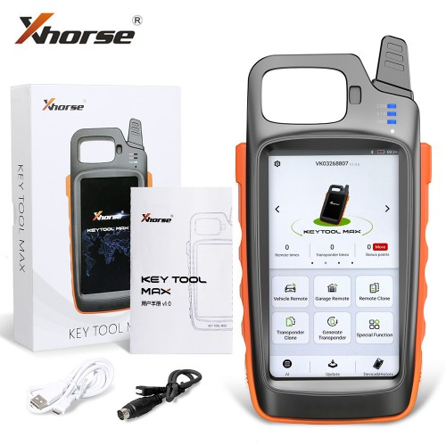 V1.2.9 Xhorse VVDI Key Tool Max Remote Programmer Free with Renew Cable