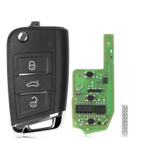 Xhorse Super Remote Key MQB Style 3 Buttons Built-in Super Chip XEMQB1EN 5pcs/lot