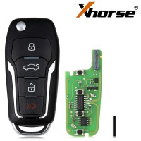 Xhorse Super Remote Key Ford Type Flip 4 Buttons Built-in Super Chip XEFO01EN 5pcs/lot