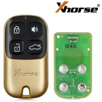 (UK Ship) Xhorse Universal Wire Remote Key 4 Buttons Golden Style XKXH02EN 5pcs/lot
