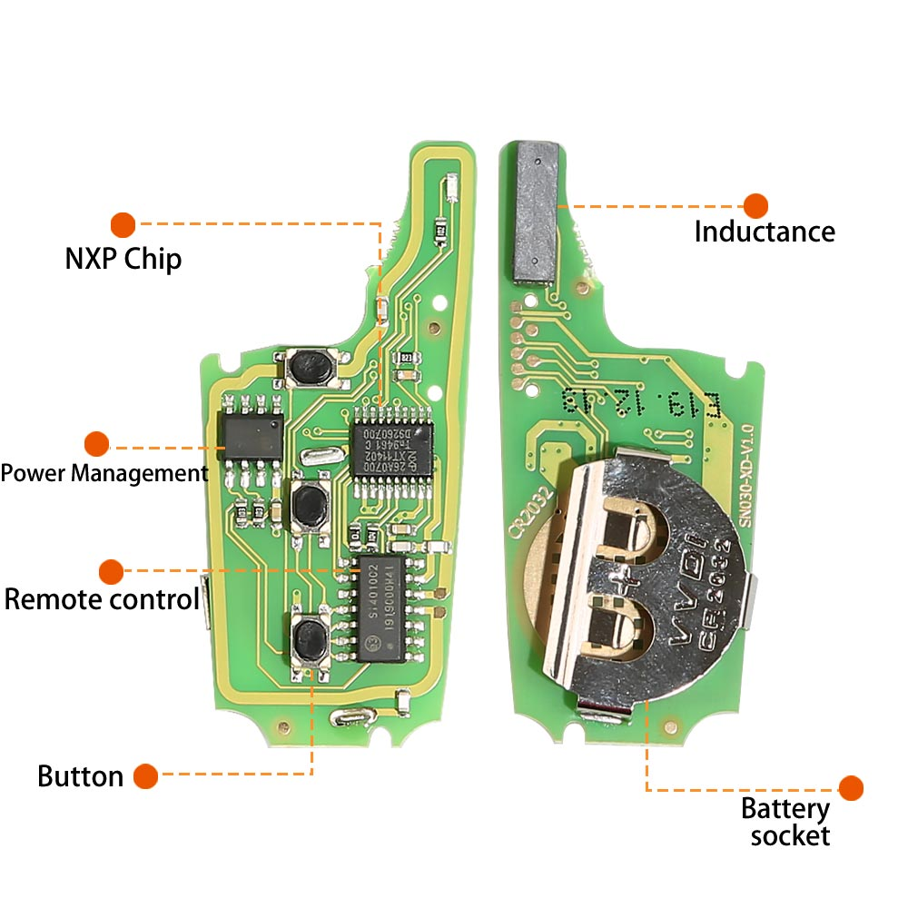 xhorse wireless remote key pcb