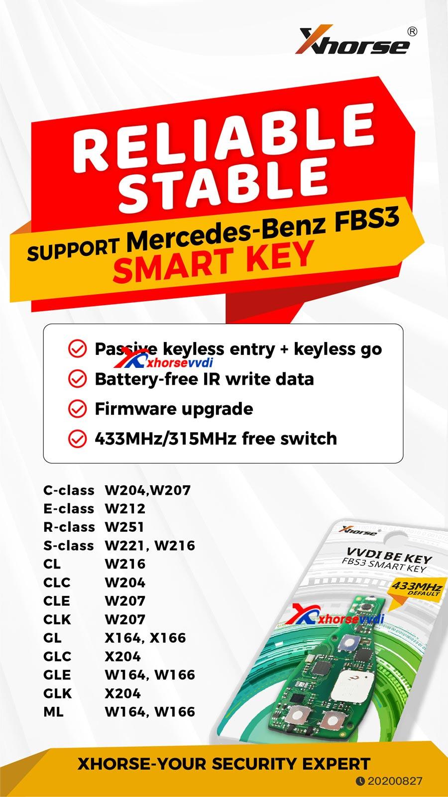 VVDI Smart key fbs3